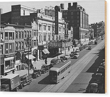 Ninth Street In Brooklyn Wood Print by Underwood Archives