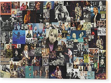 Nirvana Collage Wood Print