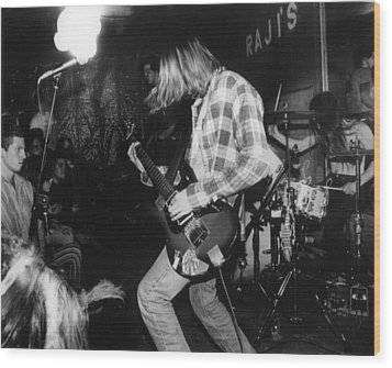 Nirvana Playing In Front Of Crowd Wood Print by Retro Images Archive