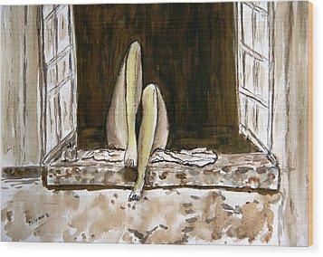 Nirvana. Wood Print by Shlomo Zangilevitch