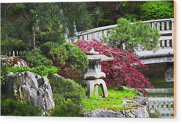 Nishinomiya Japanese Garden Wood Print by Chris Heitstuman