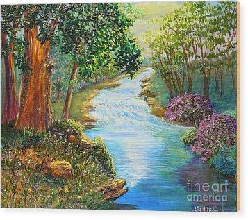 Nixon's A Luminous View Of The Rapidan River Wood Print by Lee Nixon