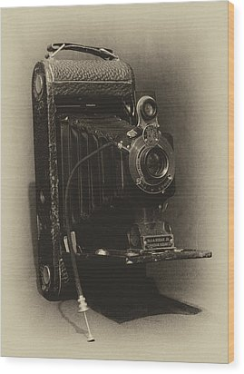 No. 1-a Kodak Jr. Wood Print by Leah Palmer