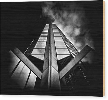 No 595 Bay St Toronto Canada Wood Print by Brian Carson