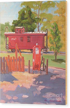 No. 7 Wood Print by Rhett Regina Owings