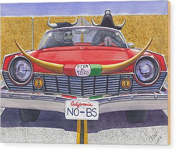 No B.s. Wood Print by Catherine G McElroy