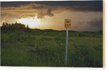 Wood Print featuring the photograph No Exit by Trever Miller
