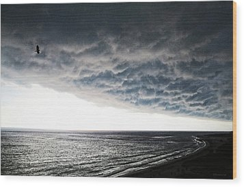 No Fear - Beach Art By Sharon Cummings Wood Print by Sharon Cummings