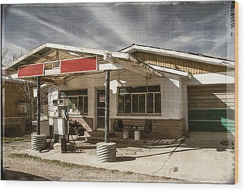 Wood Print featuring the photograph No Gas by Steven Bateson
