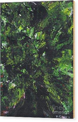 No Leaf Clover - Middle Wood Print by Kamil Swiatek