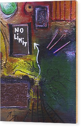 No Limits Wood Print by Mirko Gallery