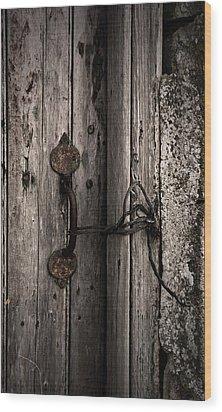 Wood Print featuring the photograph No Lock by Liz  Alderdice