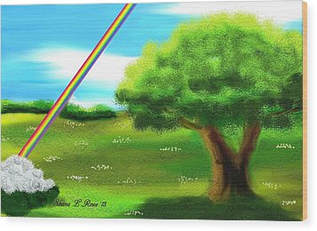 No More Rain Wood Print by Shana Rowe Jackson