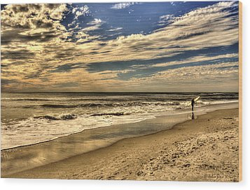 Wood Print featuring the photograph No More Surfing Today by Julis Simo