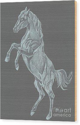 Wood Print featuring the drawing No Name by Carol Wisniewski