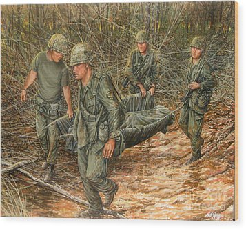 No One Left Behind Wood Print by Bob  George