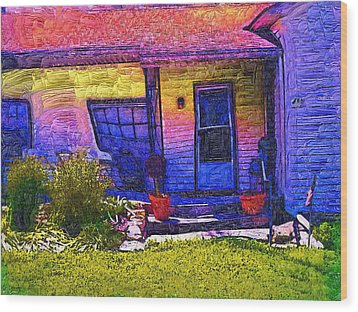 Wood Print featuring the painting No Place Like Home by Tyler Robbins
