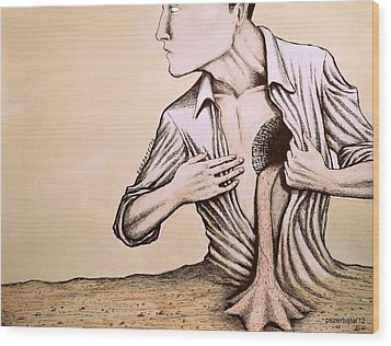 No Quiero Vivir En La Pobreza De La Racionalidad Wood Print by Paulo Zerbato