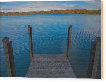 No Swimming Wood Print