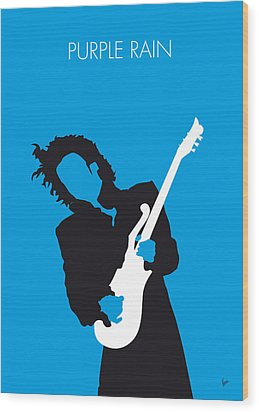 No009 My Prince Minimal Music Poster Wood Print