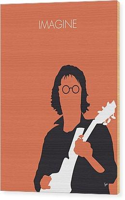 No013 My John Lennon Minimal Music Poster Wood Print by Chungkong Art
