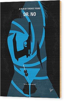 No024 My Dr No James Bond Minimal Movie Poster Wood Print by Chungkong Art