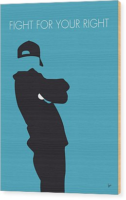 No025 My Beastie Boys Minimal Music Poster Wood Print by Chungkong Art