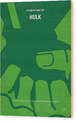 No040 My Hulk Minimal Movie Poster Wood Print by Chungkong Art