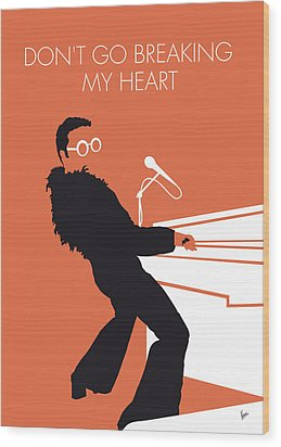 No053 My Elton John Minimal Music Poster Wood Print by Chungkong Art