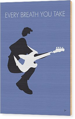 No058 My The Police Minimal Music Poster Wood Print