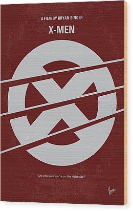 No123 My Xmen Minimal Movie Poster Wood Print by Chungkong Art
