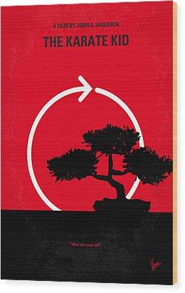 No125 My Karate Kid Minimal Movie Poster Wood Print by Chungkong Art