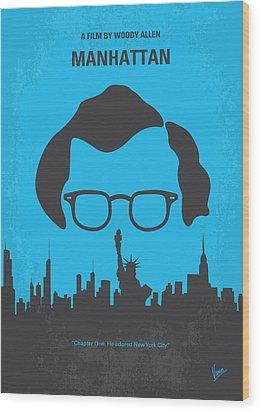 No146 My Manhattan Minimal Movie Poster Wood Print by Chungkong Art