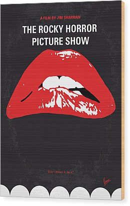 No153 My The Rocky Horror Picture Show Minimal Movie Poster Wood Print by Chungkong Art