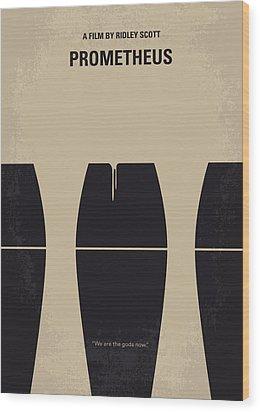 No157 My Prometheus Minimal Movie Poster Wood Print by Chungkong Art