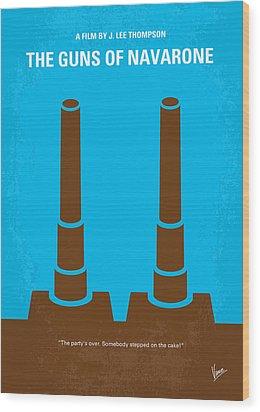 No168 My The Guns Of Navarone Minimal Movie Poster Wood Print by Chungkong Art