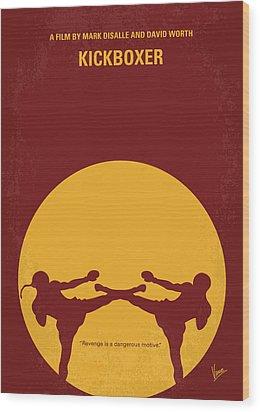 No178 My Kickboxer Minimal Movie Poster Wood Print by Chungkong Art