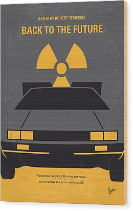 No183 My Back To The Future Minimal Movie Poster Wood Print
