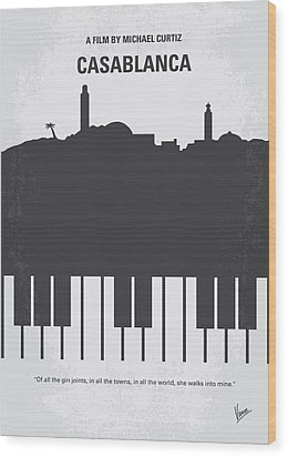 No192 My Casablanca Minimal Movie Poster Wood Print by Chungkong Art
