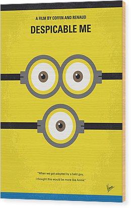No213 My Despicable Me Minimal Movie Poster Wood Print by Chungkong Art
