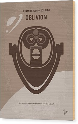 No217 My Oblivion Minimal Movie Poster Wood Print by Chungkong Art