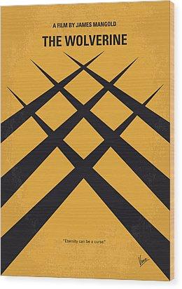 No222 My Wolverine Minimal Movie Poster Wood Print by Chungkong Art