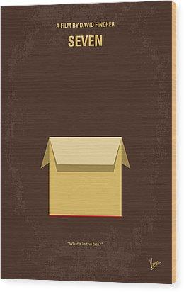 No233 My Seven Minimal Movie Poster Wood Print by Chungkong Art