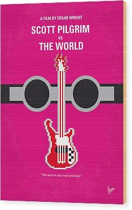 No236 My Scott Pelgrim Minimal Movie Poster Wood Print by Chungkong Art