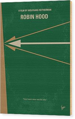 No237 My Robin Hood Minimal Movie Poster Wood Print by Chungkong Art