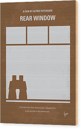 No238 My Rear Window Minimal Movie Poster Wood Print