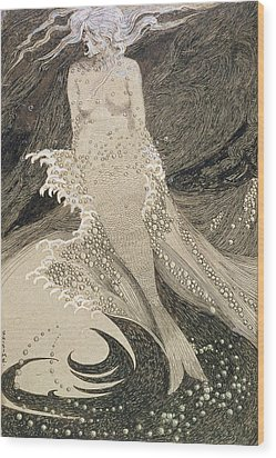 The Mermaid Wood Print by Sidney Herbert Sime