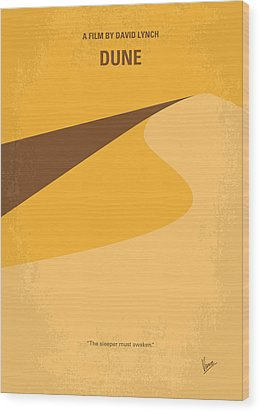 No251 My Dune Minimal Movie Poster Wood Print