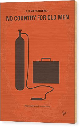 No253 My No Country For Old Men Minimal Movie Poster Wood Print by Chungkong Art