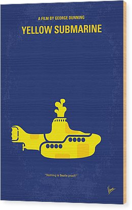 No257 My Yellow Submarine Minimal Movie Poster Wood Print